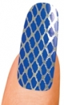 Blue and Silver Fishnet